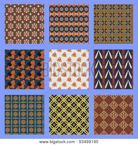 Oriental seamless pattern set.