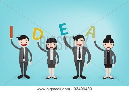 Teamwork Create Brighten Idea