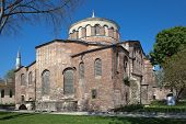 stock photo of constantinople  - Church of Hagia Irene was built on the ruins of an ancient temple of Aphrodite on the orders of Emperor Constantine in the early IV century - JPG