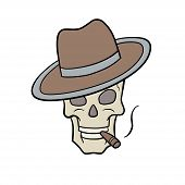 picture of raider  - This is an illustration of a skull with hat - JPG