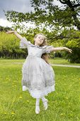 foto of polite girl  - Girl pretends she is a flying fairy - JPG