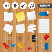 stock photo of musical symbol  - Paper sheets - JPG