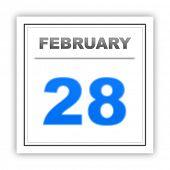 stock photo of february  - February 28 - JPG