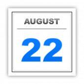 pic of august calendar  - August 22 - JPG