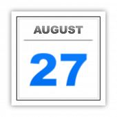 pic of august calendar  - August 27 - JPG