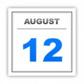 pic of august calendar  - August 12 - JPG