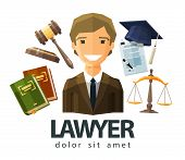 picture of covenant  - happy lawyer in a business suit - JPG