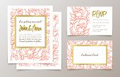 image of office party  - A set of office supplies for weddings and bachelorette party invitation - JPG