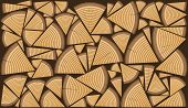 picture of firewood  - Stack of split firewood as a pattern - JPG