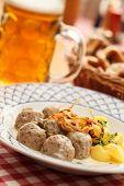 foto of meatball  - meatballs with potatoes - JPG