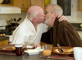 image of gay couple  - Gay men in 60s - JPG