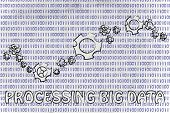 picture of binary code  - processing big data - JPG