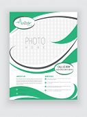 picture of biomedical  - Stylish Health Care flyer in white and green color with place holders for your image and content - JPG