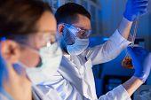 foto of chemistry technician  - science - JPG