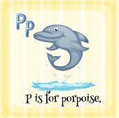 picture of porpoise  - Flashcard letter P is porpoise - JPG
