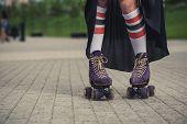 picture of roller-skating  - Roller skating beauty - JPG