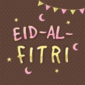 image of fitri  - Colorful text Eid - JPG