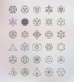 stock photo of illuminati  - Sacred geometry - JPG