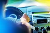 stock photo of driving  - Summer Trip by Car - JPG
