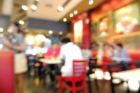pic of department store  - Blur or Defocus Background of People eating in Restaurant or Food Shop - JPG