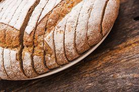 picture of fresh slice bread  - Fresh Organic Rye Bread - JPG