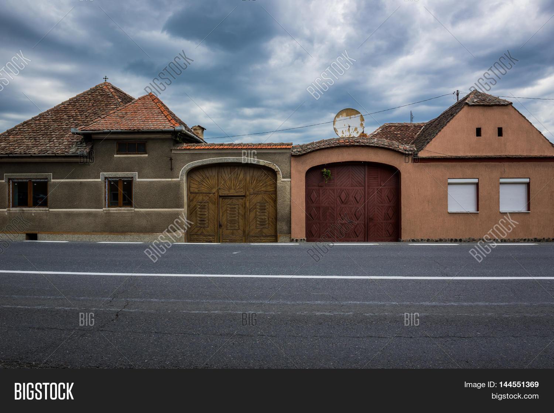 Typical saxon houses miercurea image photo bigstock - Saxon style houses in transylvania ...