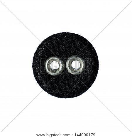 textile circle a fashion objet isolated on white background