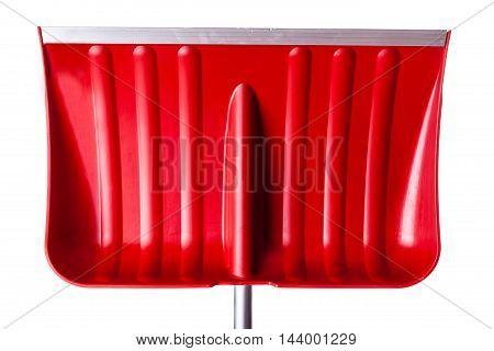 Red Snow Shovel Detail