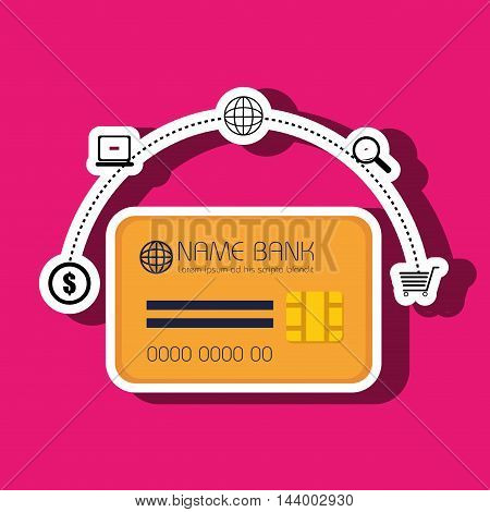 credit card money buy vector illustration eps 10