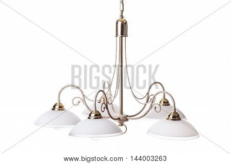 Old Chandelier Isolated