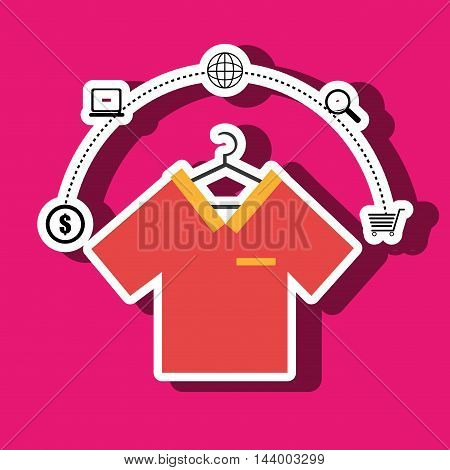 clothes wear buy online vector illustration eps 10