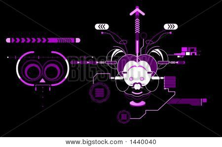 Abstract Mouse  01  Invert Purple