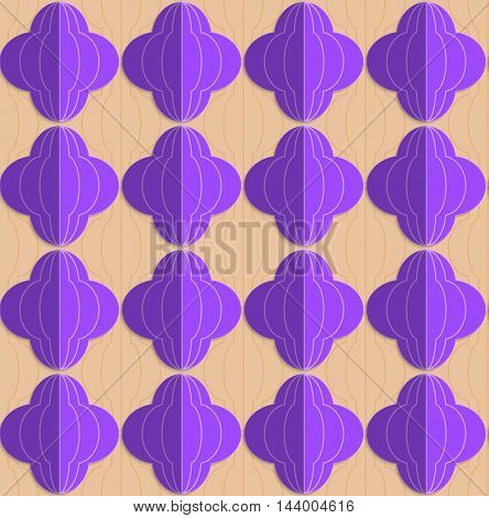 Retro Fold Purple Striped Bulbs