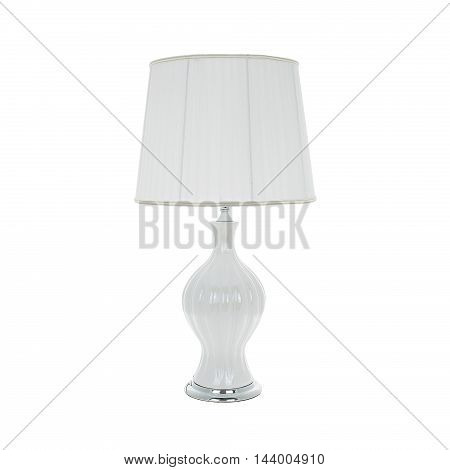 Table lamp isolated on a white background