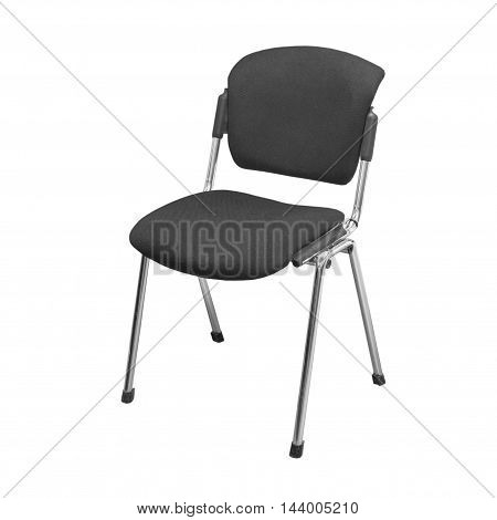 Modern office chair from black cloth over white