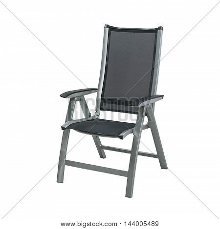Modern chair in metal isolated on a white