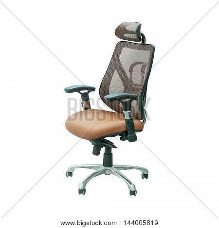 office chair on wheels isolated on white background