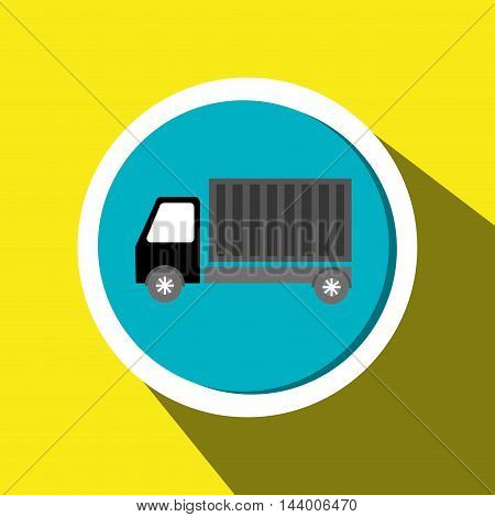 truck cargo delivery goods vector illustration eps 10