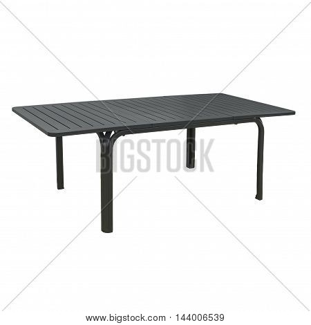 Black outdoor table isolated on a white background