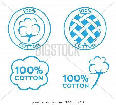 100% cotton vector , logo , icon
