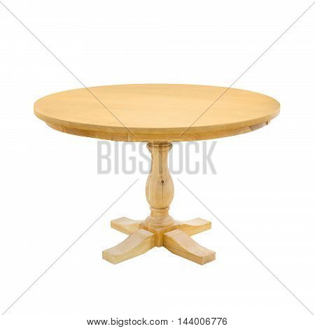 wooden table isolated on a white background