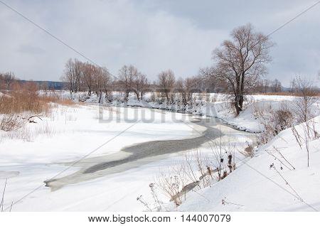 River In Spring Flood
