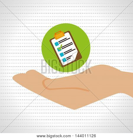 hand shipping cargo attention vector illustration eps 10