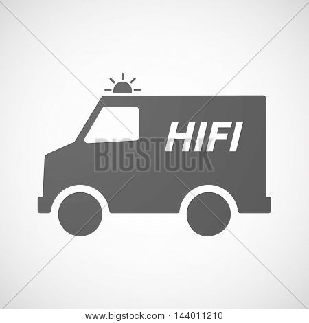 Isolated Ambulance Icon With    The Text Hifi