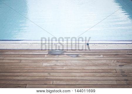 Outdoor Swimming Pool In Summer