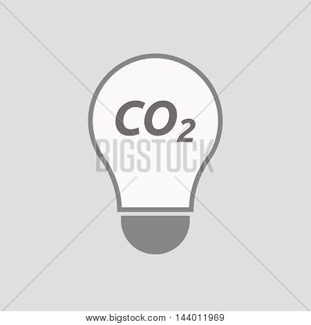 Isolated Line Art Light Bulb Icon With    The Text Co2