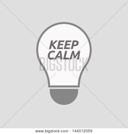 Isolated Line Art Light Bulb Icon With    The Text Keep Calm