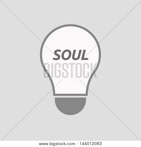 Isolated Line Art Light Bulb Icon With    The Text Soul