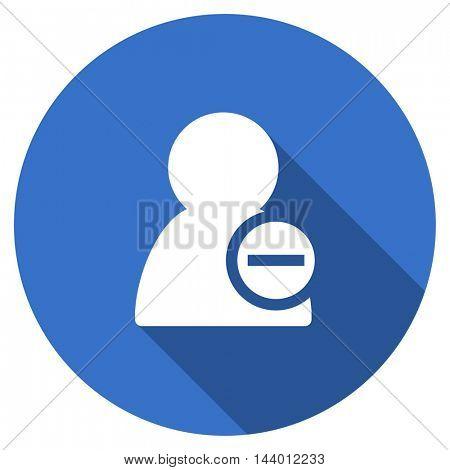 remove contact vector icon