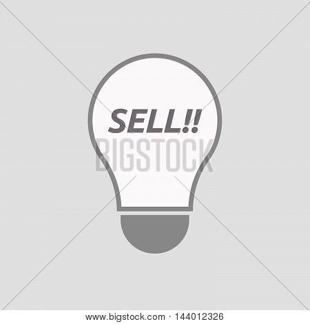 Isolated Line Art Light Bulb Icon With    The Text Sell!!